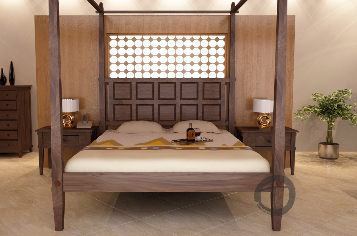 tropical canopy bed - tansu asian furniture boutique - tansu
