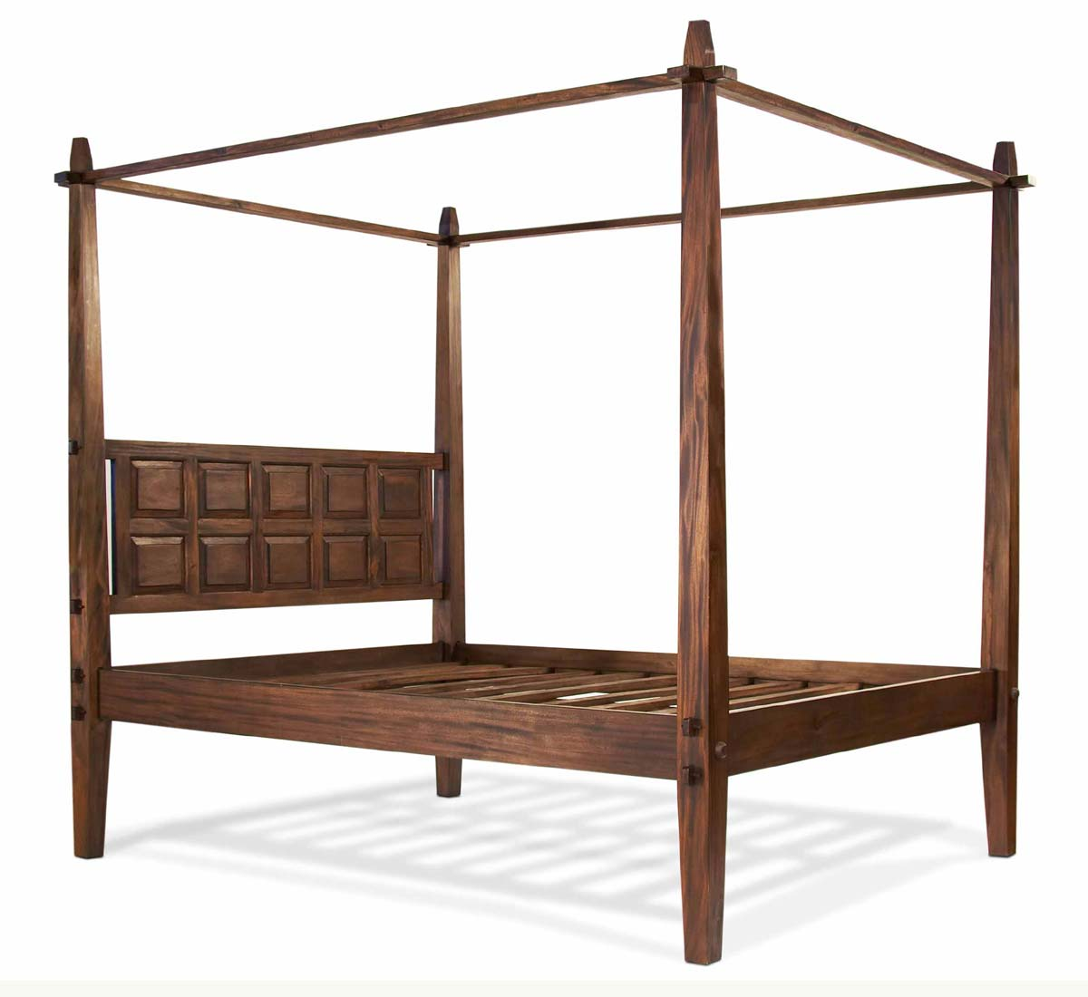 wood canopy bed. tropical canopy bed tansu asian furniture