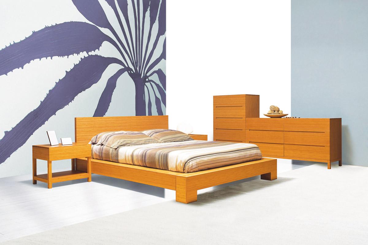 Enviro bamboo platform bed tansu net for Bamboo bedroom furniture