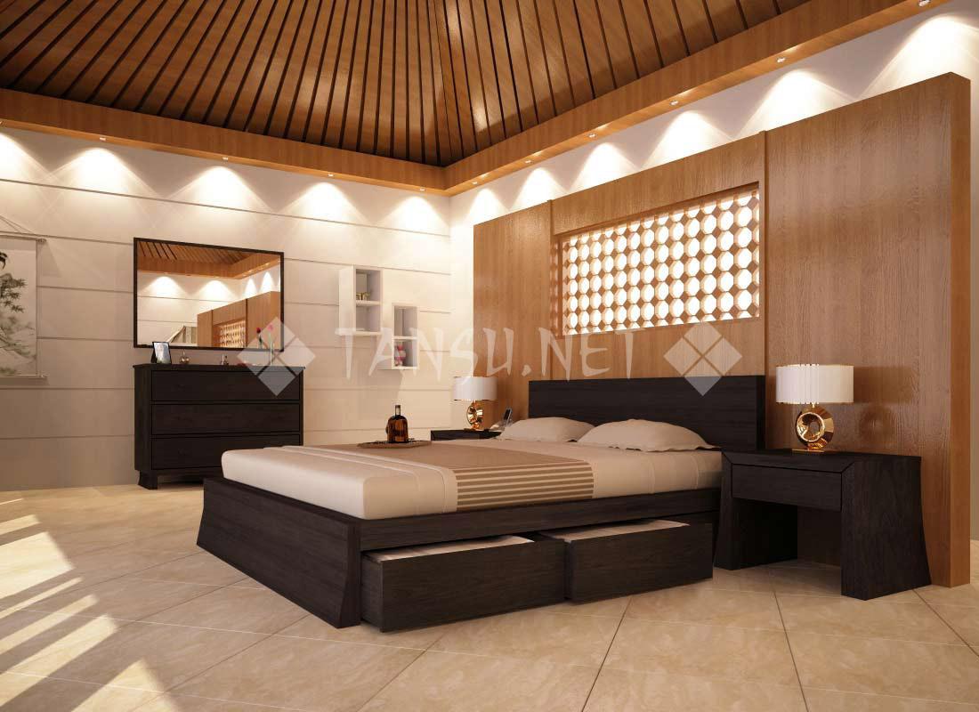 Cairo storage platform bed tansu net for Platform bedroom designs