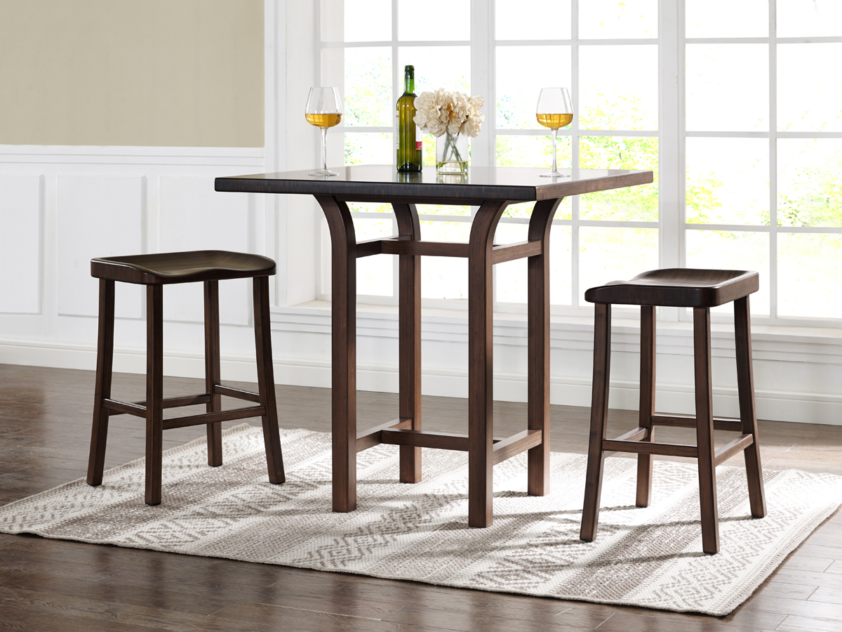Tulip Bar Height Table (Black Walnut) With Matching Stools (sold Separately)