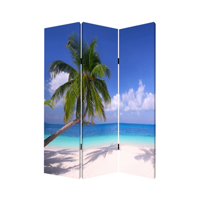 Paradise Three Panel Screen