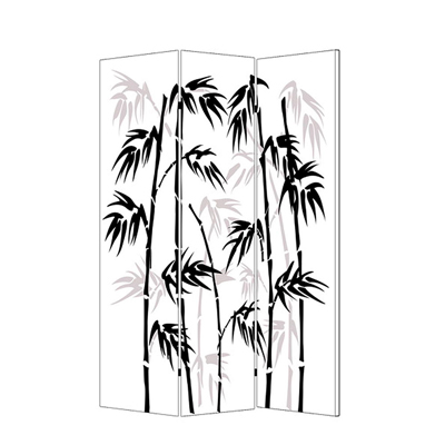 Banaboo Leaf Three Panel Screen