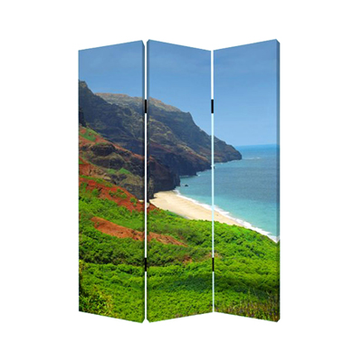 Hawaiian Coast Three Panel Screen