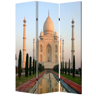 Taj Mahal Three Panel Screen
