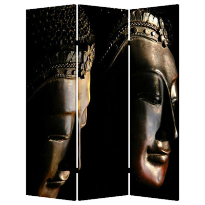 Buddha Three Panel Screen