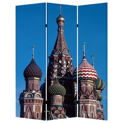 Russia Three Panel Screen