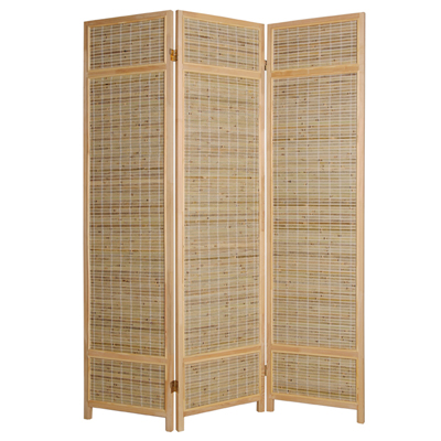 Boca Bamboo Three Panel Screen