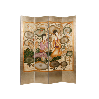 Harmony Garden Four Panel Screen