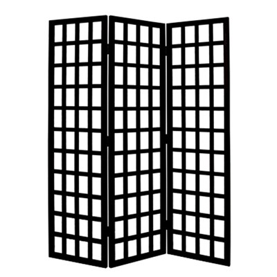 Dakota Three Panel Screen (Black)
