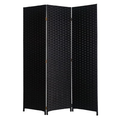 Pensacola Three Panel Screen (Black)