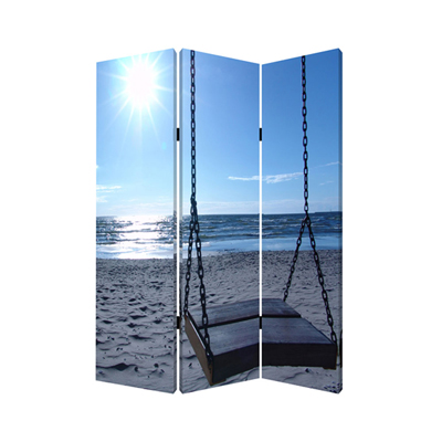 Seaside Serenity Three Panel Screen