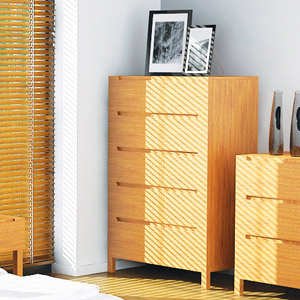 Orchid Bamboo 5 Drawer Chest