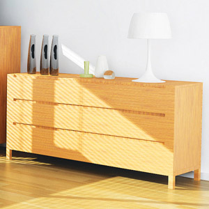 Orchid Bamboo 6 Drawer Dresser