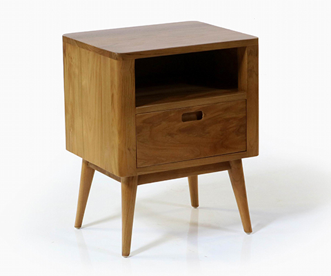 Fifties Nightstand - Danish Honey