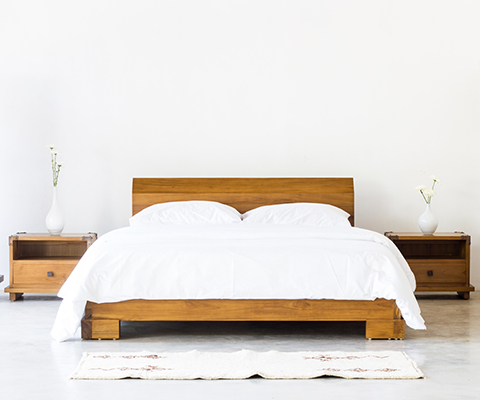 Kobe Platform Bed (Danish Honey)
