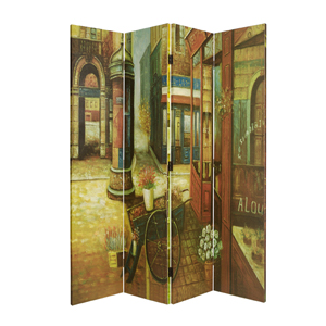 French Quarter Four Panel Screen