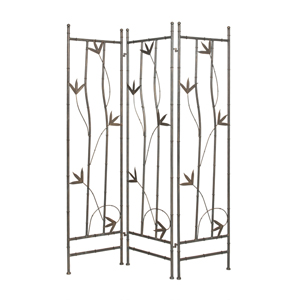 Leaf Iron Three Panel Screen
