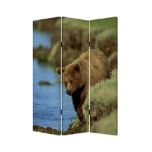Bear Three Panel Screen