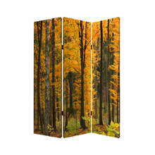 Autumn Journey Three Panel Screen