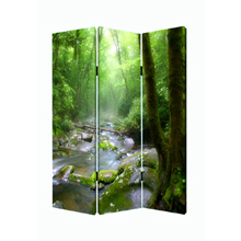 Meadows And Streams Three Panel Screen