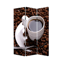 Coffee Time Three Panel Screen
