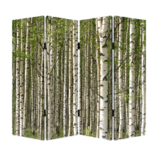 Prolific Forest Four Panel Screen