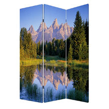 Mountain Peaks Three Panel Screen