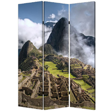 Machu Picchu Three Panel Screen