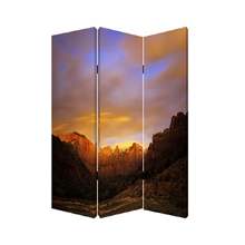 Desert Three Panel Screen