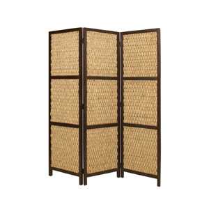 Braided Rope Three Panel Screen