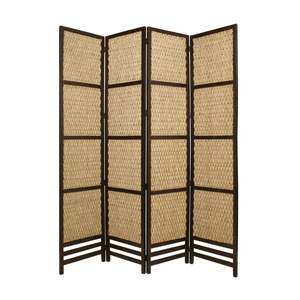Braided Rope Four Panel Screen