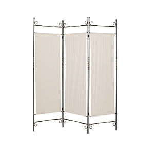 Canvas Three Panel Screen