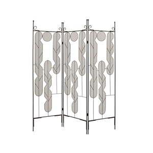 Iron Art Three Panel Screen