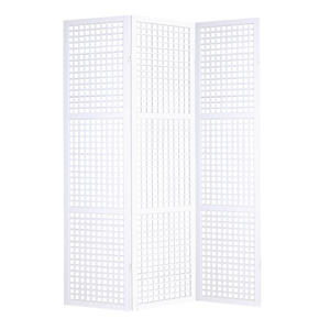Eternal Squares Three Panel Screen - White
