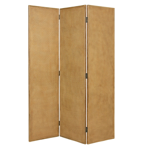 Crushed Bamboo Three Panel Screen