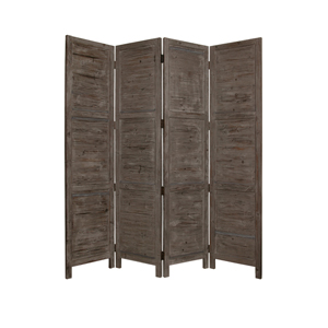 Nantucket Four Panel Screen (Gray)