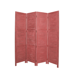 Nantucket Four Panel Screen (Red)