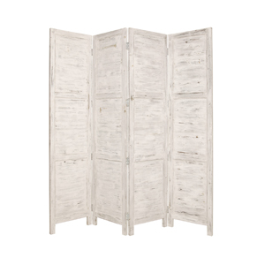 Nantucket Four Panel Screen (White) - Style 1