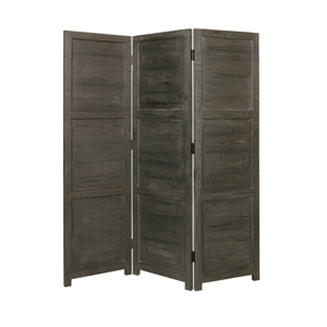 Nantucket Three Panel Screen (Black)