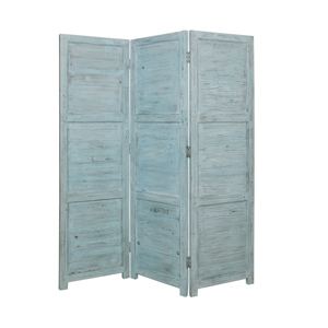 Nantucket Three Panel Screen (Blue)