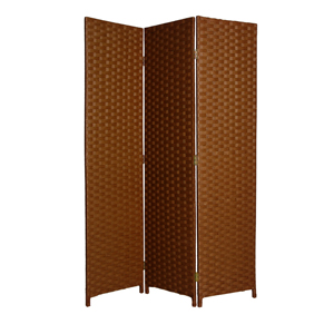 Pensacola Three Panel Screen (Dark Brown)