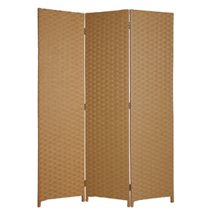 Pensacola Three Panel Screen (Light Brown)