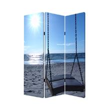 Seaside Serenity Three Panel Screen