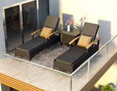 Arbor Reclining Chaise Lounger (HL-AR-RCL)
