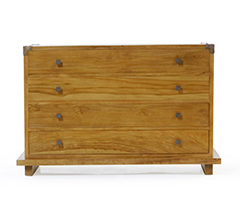 Kobe 4-Drawer Dresser (Danish Honey)