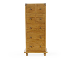 Kobe 7 Drawer Tall Dresser (Danish Honey)
